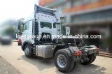 Vrachtwagen van de Tractor van de Tractor van Sinotruk HOWO T5g 350HP de Hoofd4X2