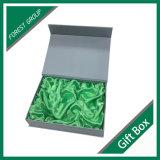 Boîte en carton magnétique empaquetant avec le tissu en soie
