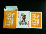 Cartes de jeu noires de papier de Nwtf/cartes de jeu de tisonnier avec 4 couleurs différentes