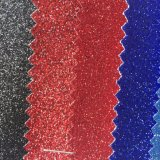 Кожа PU яркия блеска TPU украшенный лиственным орнаментом для сандалий Hw-7551 ботинок