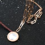長いネックレスの方法アクセサリーのステンレス鋼の黒のシェルのペンダント