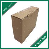 Marrón papel corrugado caja de empaquetado