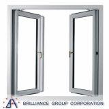 Portello di alluminio standard di vetro sano della cerniera dell'espulsione dell'isolamento As2208