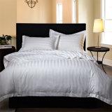 昇進のホテルの100%年の綿の寝具セット/平らなシート/マットレスのカバー