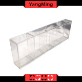 46mm 5개의 줄 찰흙 부지깽이 칩 부유물 카지노 전용 투명한 아크릴 칩 상자 Ym-CT11