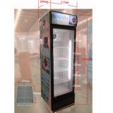 Alta qualità dispositivo di raffreddamento dritto del singolo portello di vetro da 360 litri per Pepsi-cola e cola