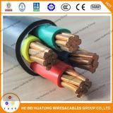 Pvc van het lage Voltage isoleerde en stak Elektrische Kabel in de schede