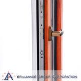 Janela de inclinação e curva de alumínio para acabamento em grão de madeira
