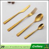 Cutlery случаев венчания медный, PVD покрыл комплект Cutlery золота