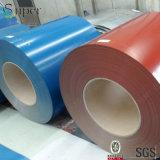 Bobine en acier peinte rouge galvanisée enduite d'une première couche de peinture de bobine en acier