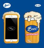 Caso de la cubierta del silicón de la historieta de los cangrejos 3D del restaurante de la caja del teléfono celular para el iPhone 7 6 más 4.7 5.5