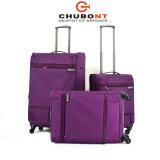 Jogo elevado da bagagem do Zipper do dobro do fechamento de Chubont Qualilty Tsa