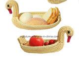 Handgemachter Tierform PET Rattan-Frucht-Korb