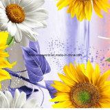 Sonnenblume Pigment&Disperse des Sonnenuntergang-100%Polyester druckte Gewebe für Bettwäsche-Set