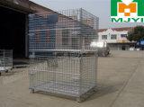 Jaula industrial amontonable del almacenaje del acoplamiento de alambre