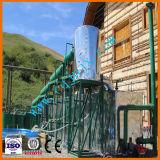 Mini machine de raffinerie de distillation de pétrole brut de production d'essence et d'huile neuve de modèle