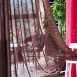 E.U. Cortina completa do Voile contínuo de linho popular do algodão (18F0090)