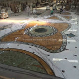 Medallón de piedra de mármol del jet de agua para la decoración del suelo del hotel