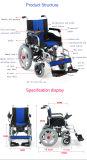 Sillón de ruedas eléctrico plegable plegable de la potencia del precio barato médico del nuevo producto de la salud