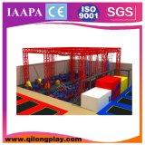 Trampolín de interior de salto agradable 2015 con el sistema de seguridad