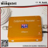 De nieuwe Repeater van het Signaal van de Telefoon van de Cel van de Band van het Ontwerp 2g 3G Dubbele met Ce RoHS
