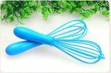 L'oeuf bleu de silicones de couleur de catégorie comestible de 8 pouces battent