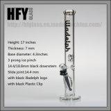 """Fumage épais de Shisha Illadelph en verre 17 de Hfy """" de la hauteur 7mm de tube droit noir épais de conduite d'eau dans le tabac enivrant soufflé par main courante de narguilé en gros"""