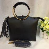 Sacchetto di cuoio reale della signora spalla di modo della nappa delle 2017 borse con la maniglia rotonda Emg4823 dell'anello del metallo