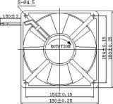 вентилятор AC 115/220/380V 180X180X60mm осевой с утверждениями