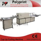 Couvercle de cuvette de café s'enroulant faisant la machine