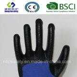 раковина полиэфира 13G с покрынными нитрилом перчатками работы (SL-N117)