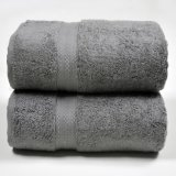 中国タオルの製造OEMの顧客の綿の固体ドビーの浴室タオル