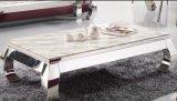 贅沢で新しいデザイン金属の足の白い大理石のコーヒーテーブル