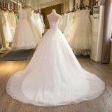 SL-43 высокое качество без бретелек Tulle Appliques Bads a - линия платье венчания 2017