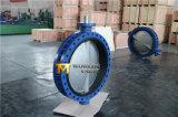 Dn750 U 단면도는 벨브 승인된 세륨 ISO Wras를 가진 나비 플랜지를 붙였다 (CBF01-TU01)