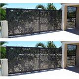 Puerta de aluminio decorativa de la cerca