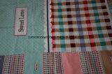 100%Polyester格子縞Pigment&Disperseは寝具セットのためのファブリックを印刷した