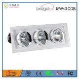 보장 3 년 15W× Super-Bright Bridgelux 옥수수 속 LED 칩을%s 가진 3개의 3 헤드 LED 석쇠 램프