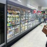 Congelador vertical do indicador da porta de vidro comercial do refrigerador da bebida