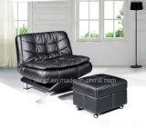 Sofá de couro de três assentos para a casa usada (HX-F633)