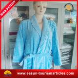 中国タオルの工場顧客の綿の青いホテルの浴衣