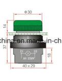 scanalatura dell'interruttore di pulsante di 22mm con rosso/verde/colore giallo