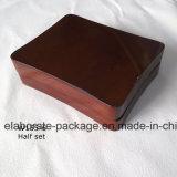 Популярная оптовая древесина упаковывая коробку темный Brown известной драгоценности установленную