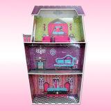 Camera di bambola di legno educativa per i capretti (3-8years vecchio) con mini mobilia F0374 stabilito