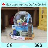 Globo personalizzato dell'acqua della resina di paesaggio di Londra del globo della neve della resina