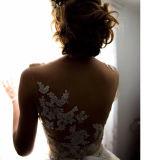 2017 vestidos de casamento nupciais Wj001 do vestido de esfera do laço