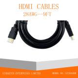 Ethernet 1080P de 50FT para o cabo de HDMI/cabo do computador