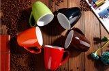 Venta caliente V forma de la Copa de cerámica con calcomanía