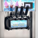 Machine congelée par 12L molle de 3 de saveurs de crême glacée de machine cônes de crême glacée