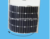 a instalação solar do módulo dos painéis solares de eficiência 120W elevada